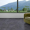 Coleton Dark Grey Stone Effect Large Format Floor Tile - 1000 x 1000mm profile small image view 1