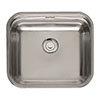 Reginox Colorado Comfort 1.0 Bowl Stainless Steel Inset/Undermount Kitchen Sink profile small image view 1
