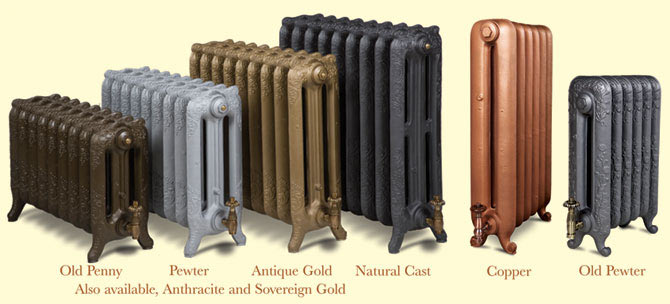 The colour options available for Paladin radiators