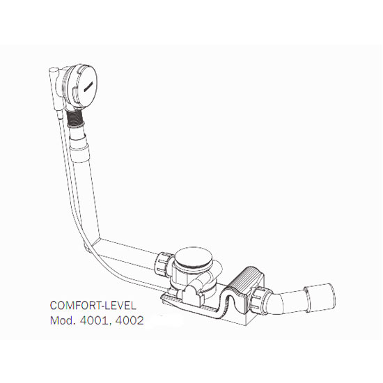 Kaldewei - Comfort Level Plus+ Pop Up Bath Waste & Filler - Standard - 4011 profile large image view 3