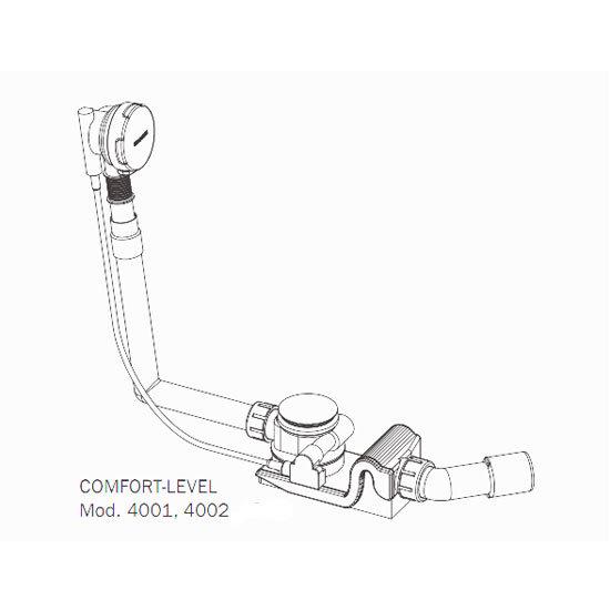 Kaldewei - Comfort Level Pop Up Bath Waste - Standard - 4001 Feature Large Image