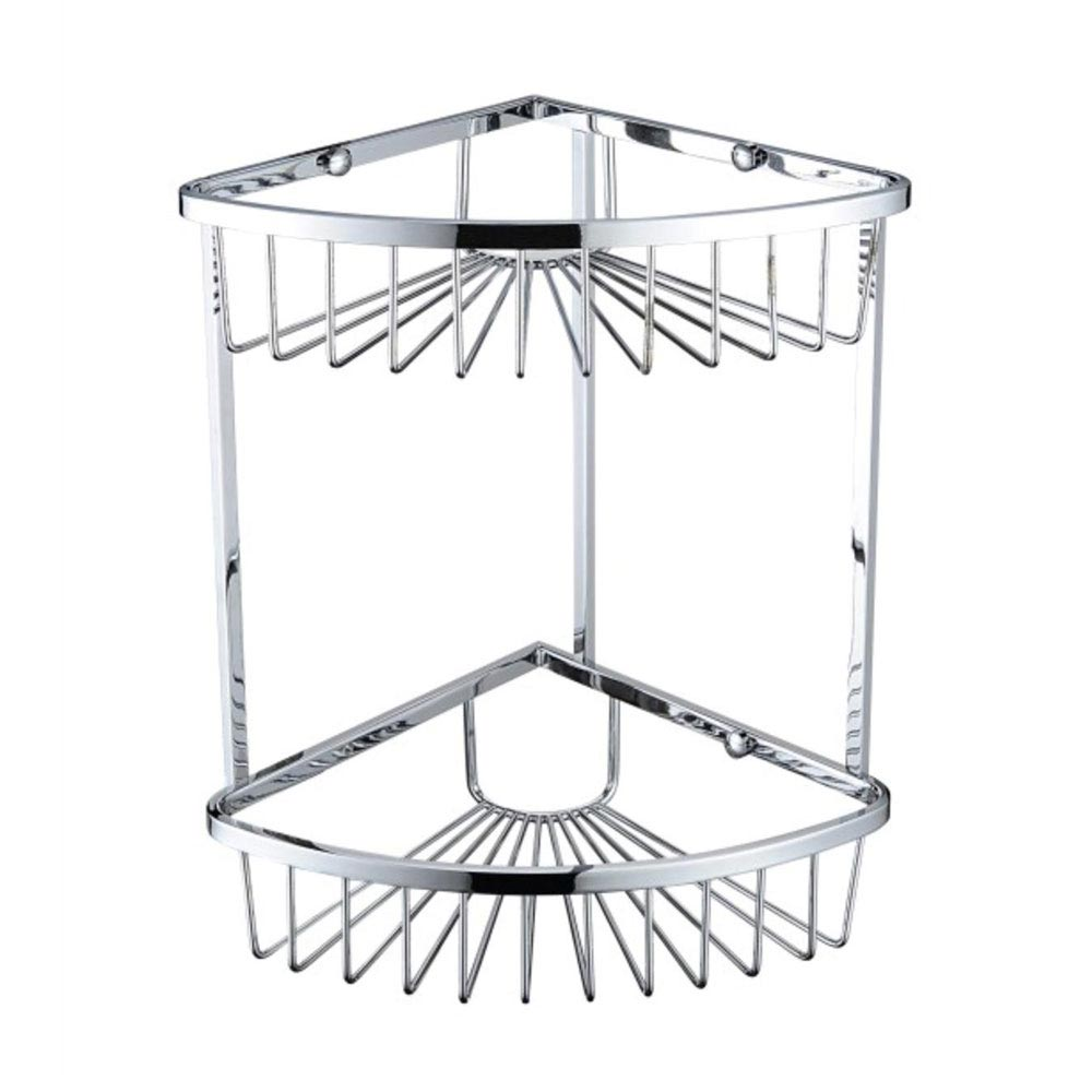 Bristan Two Tier Corner Fixed Wire Basket - COMP-BASK06-C Large Image