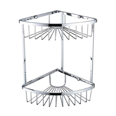 Bristan Two Tier Corner Fixed Wire Basket - COMP-BASK06-C
