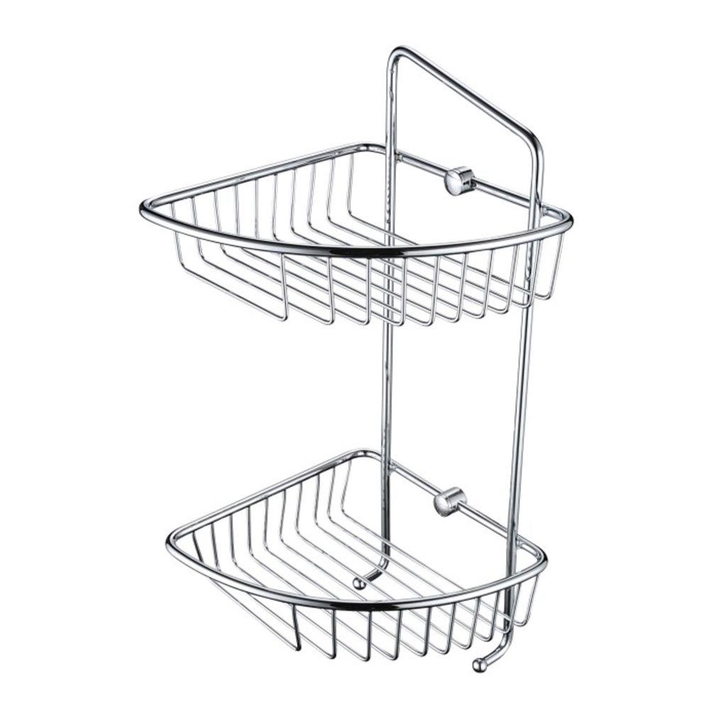 Bristan Two Tier Wall Fixed Wire Basket - COMP-BASK07-C profile large image view 1