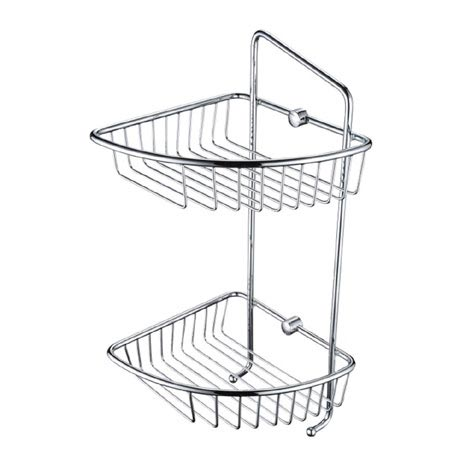 Bristan Two Tier Wall Fixed Wire Basket - COMP-BASK07-C