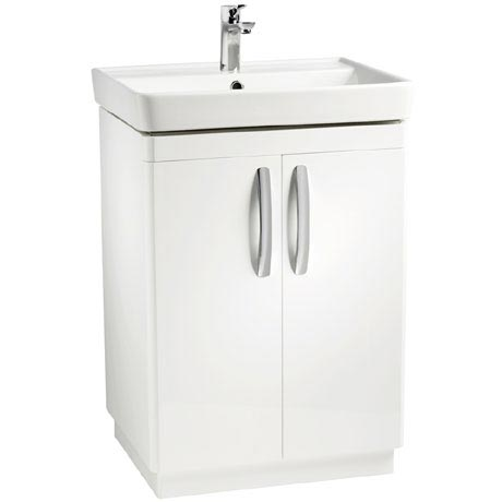 Tavistock Compass 600mm Freestanding Unit & Basin - Gloss White