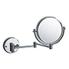 "Bristan 8"" Wall Mounted Cosmetic Mirror - COMP-WMMR-C profile small image view 1"