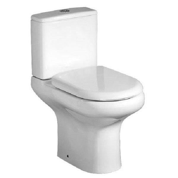 RAK Compact Close Coupled Toilet + Quick Release Soft Close Urea Seat