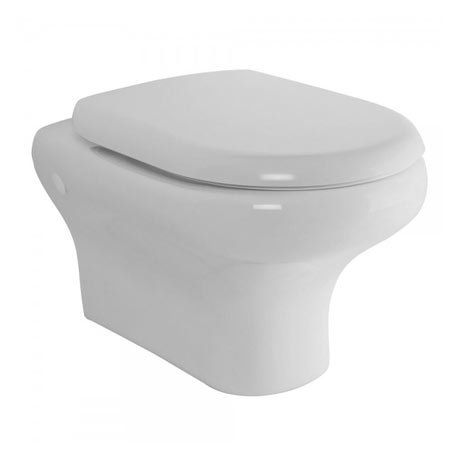 RAK Compact Wall Hung Pan + Quick Release Soft Close Urea Seat