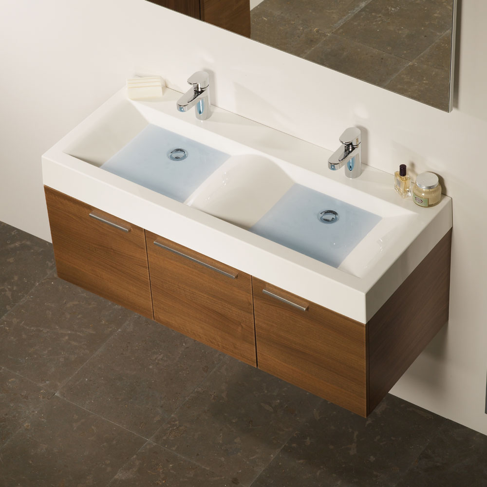 Roper Rhodes 1200mm Isocast Double Basin - CON1200W profile large image view 2