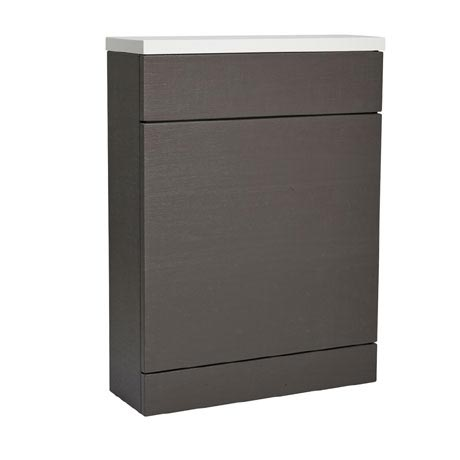 Roper Rhodes 600mm Back to Wall WC Unit & Worktop - Charcoal Elm