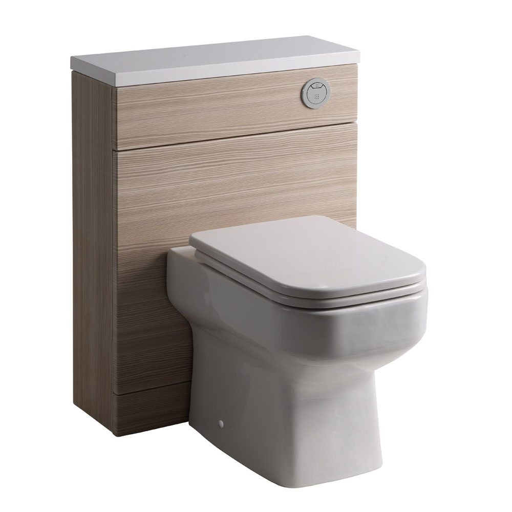 Roper Rhodes 600mm Back to Wall WC Unit & Worktop - Pale Driftwood Large Image