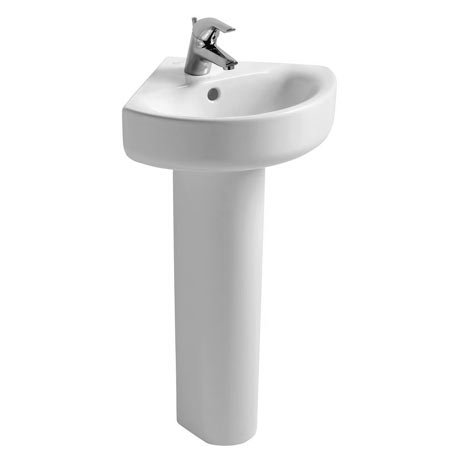 Ideal Standard Concept Arc 45cm 1TH Corner Handrinse Basin & Pedestal