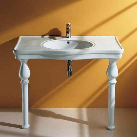 RAK - 105cm Deluxe Console Basin inc Ceramic Legs profile large image view 1