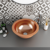 Trafalgar Polished Copper 407mm Round Counter Top Basin profile small image view 1