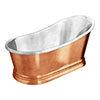 Trafalgar Copper 1700 x 787mm Slipper Roll Top Bath Tub (Nickel Inside) profile small image view 1