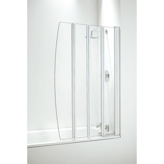 Coram Four Panel Folding Bath Screens - 2 Colour Options