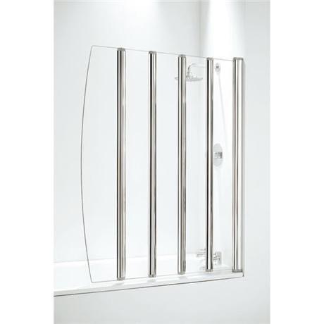 Coram - Five Panel Folding Bathscreens - 2 Colour Options