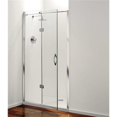 Coram - Frameless Premier Hinged Shower Door - Left Hand Open - 4 Size Options