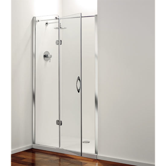 Coram Frameless Premier Hinged Shower Door Left Hand Open 4