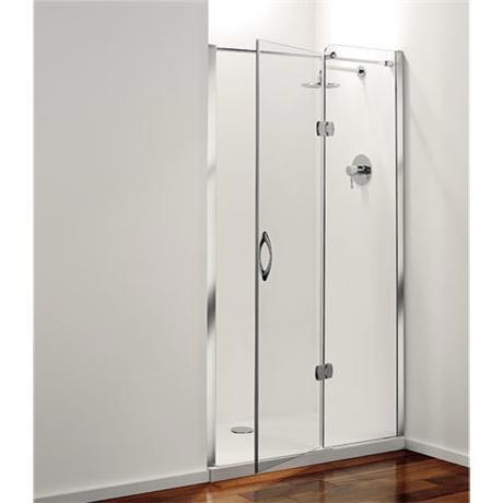 Coram - Frameless Premier Hinged Shower Door - Right Hand Open - 4 Size Options