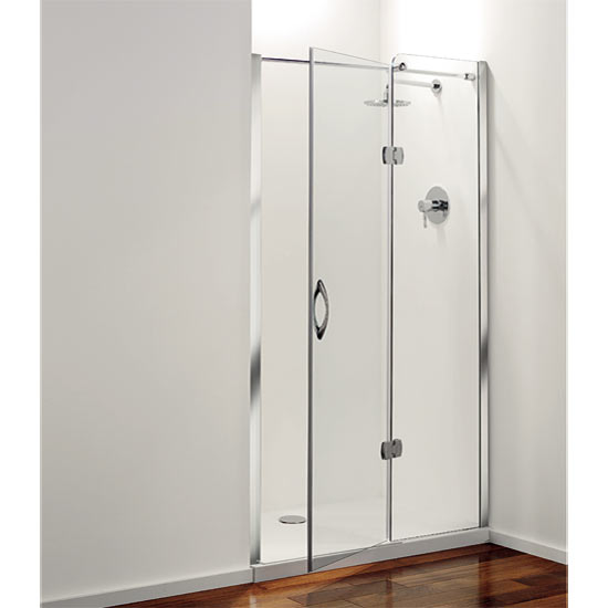 Coram - Frameless Premier Hinged Shower Door - Right Hand Open - 4 Size Options Large Image