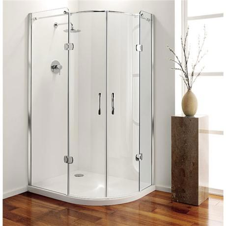 Coram - Frameless Premier Hinged Offset Quadrant - 1200mm x 900mm - Left or Right Option