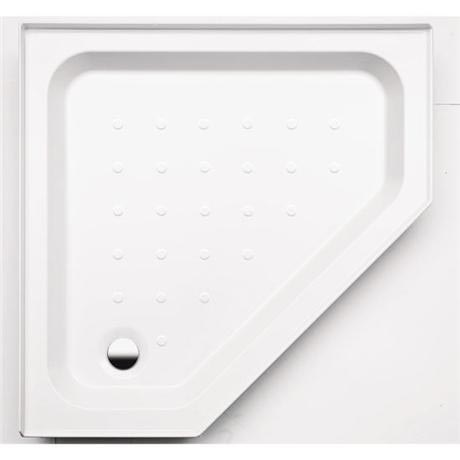Coram - Pentagon Shower Tray with Upstands & Waste - YDP90WHI