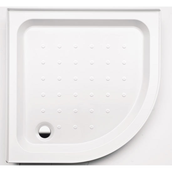 Coram - Universal Quadrant Shower Tray with Upstands & Waste - 2 Size Options Large Image