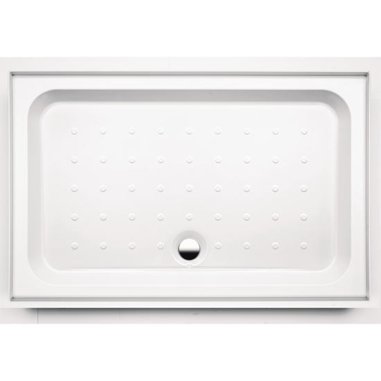 Coram - Universal Rectangular Shower Tray with Upstands & Waste - 4 Size Options Large Image