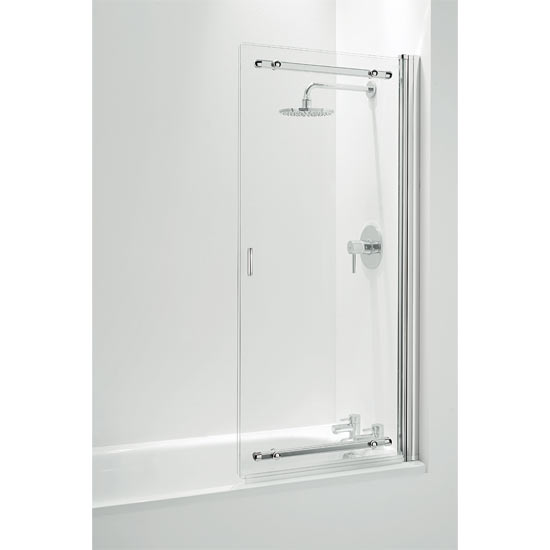 Coram Framless Sliding Bathscreen - 1065mm - Chrome - SSL2105CUC profile large image view 2