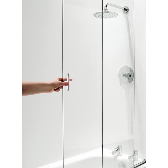 Coram Framless Sliding Bathscreen - 1065mm- Chrome - SSL2105CUC Feature Large Image