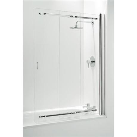 Coram Framless Sliding Bathscreen - 1065mm- Chrome - SSL2105CUC