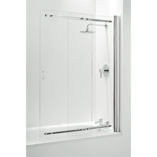 Coram Framless Sliding Bathscreen - 1065mm - Chrome - SSL2105CUC profile large image view 1