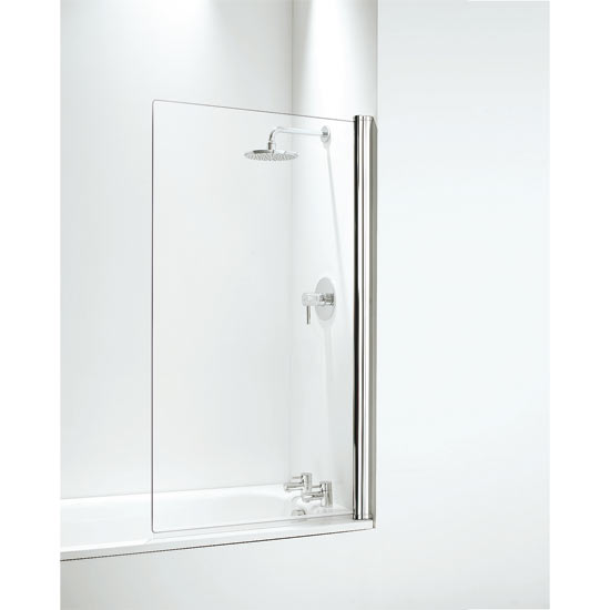Coram Square Bath Screen (800mm) 2 Colour Options profile large image view 1