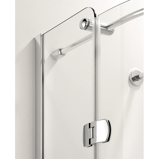 Coram Frameless Premier Hinged Offset Quadrant - 1200mm x 900mm - Left or Right Option profile large image view 3