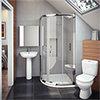 Cove En Suite Bathroom Suite Inc. Quadrant Enclosure profile small image view 1