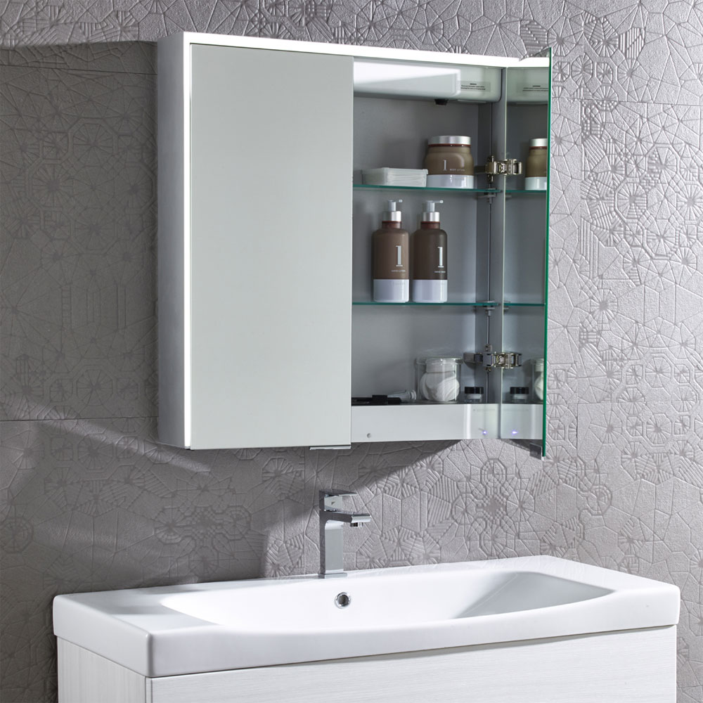 Roper Rhodes Compose Bluetooth Illuminated Mirror Cabinet - CP65AL
