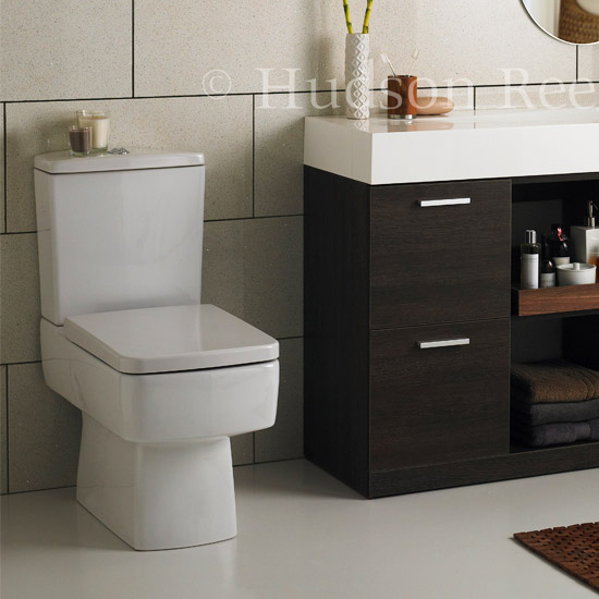 Hudson Reed Square Close Coupled Toilet profile large image view 2