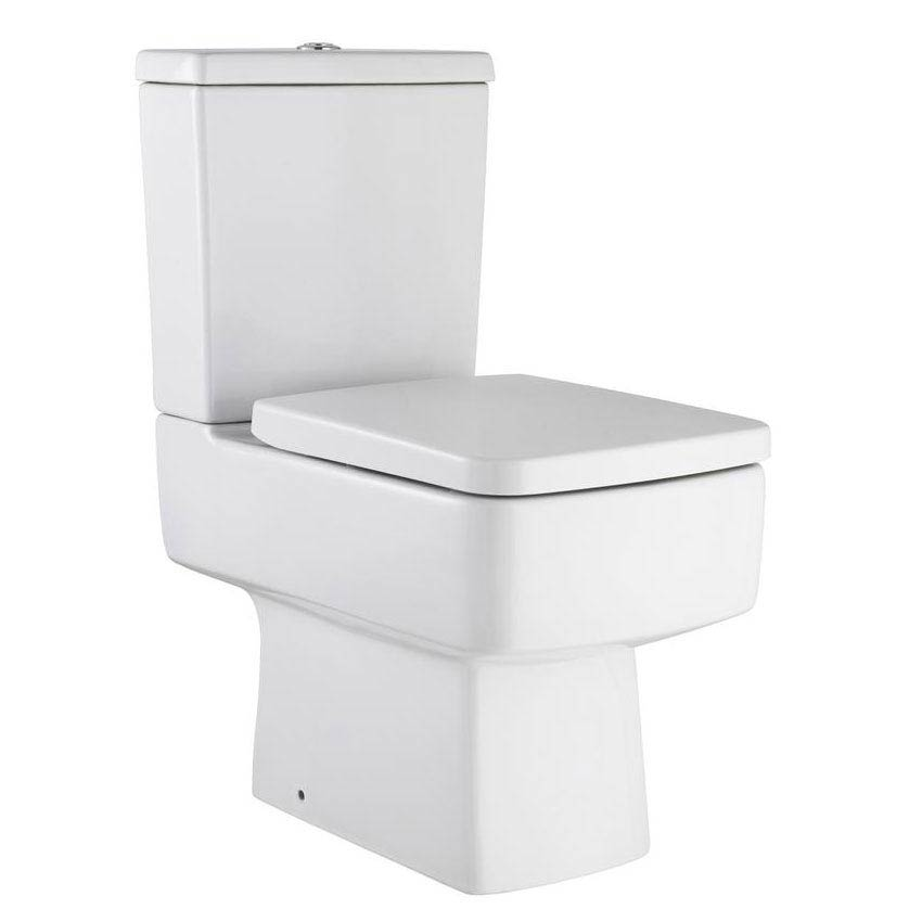 large square toilet seat.  Hudson Reed Square Close Coupled Toilet At Victorian Plumbing UK