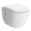 Hudson Reed Round Wall Hung Pan + Top-Fix Soft-Close Seat - CPA004 profile small image view 1