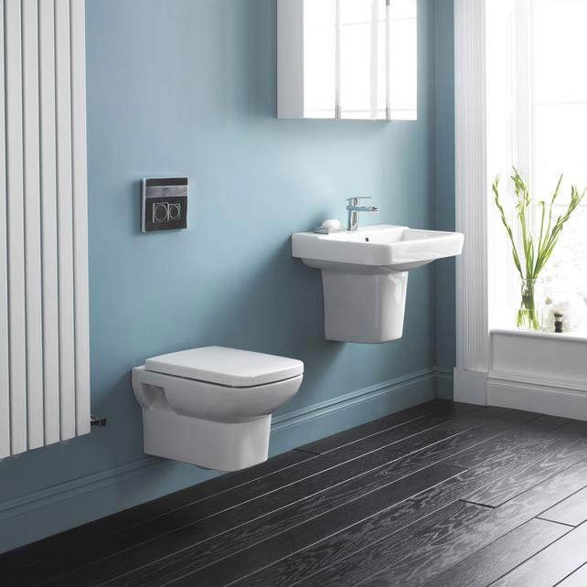 Hudson Reed - Square Wall Hung Pan with top-fix Soft-Close Seat - CPA005 Profile Large Image