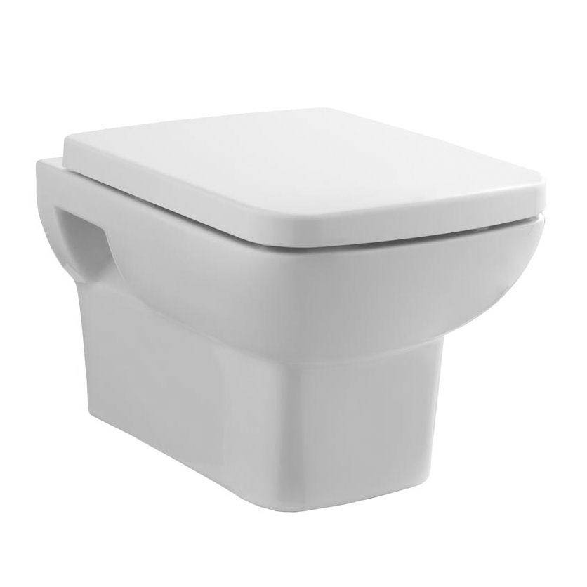 Hudson Reed - Square Wall Hung Pan with top-fix Soft-Close Seat - CPA005 Large Image