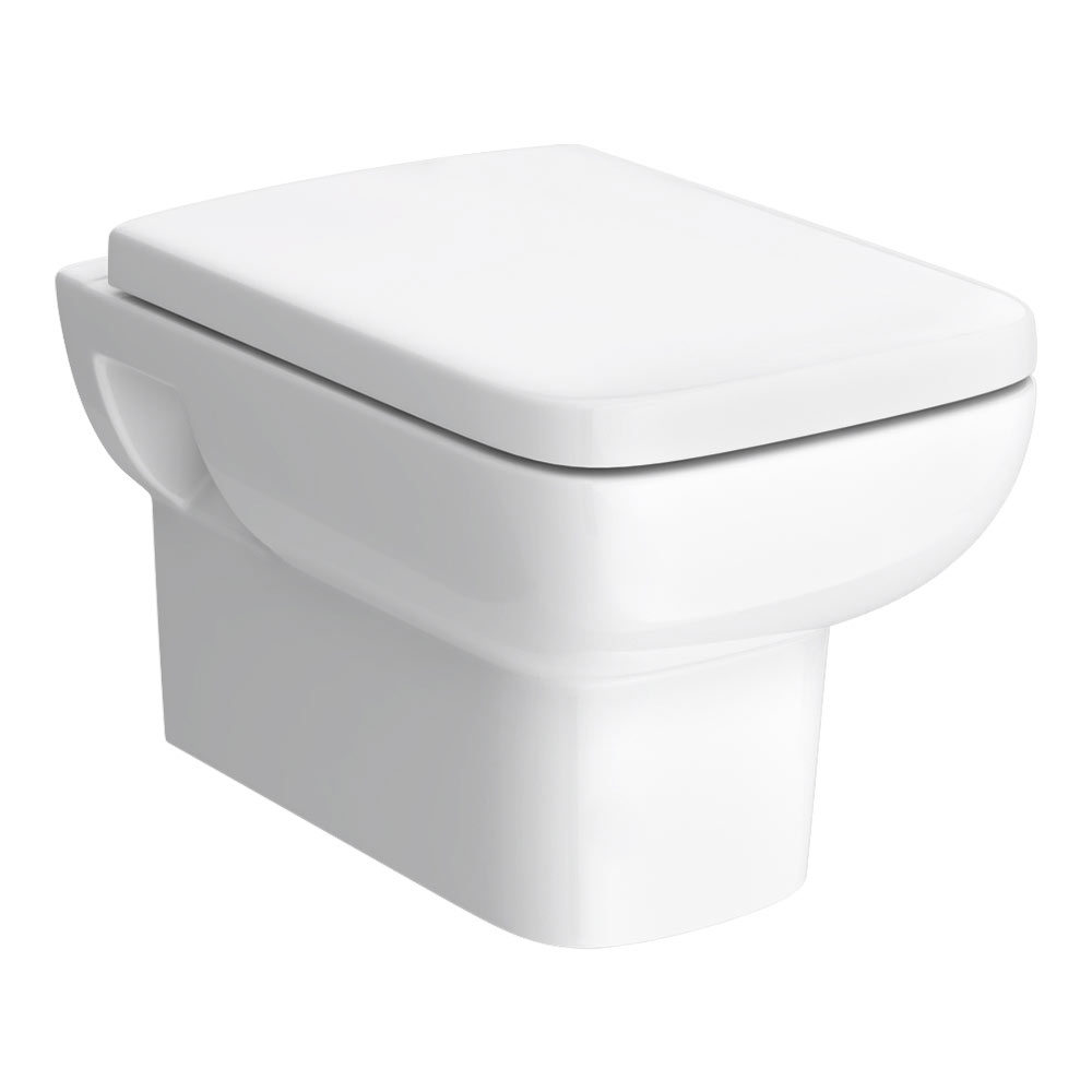 Hudson Reed Arlo Square Wall Hung Pan with Top-Fix Soft Close Seat - CPA005