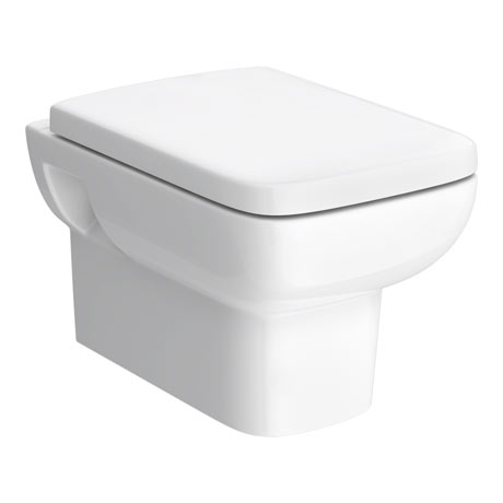 Hudson Reed Square Wall Hung Pan with Top-Fix Soft Close Seat - CPA005