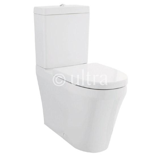 Ultra Comfort Height BTW Close-Coupled Toilet with Soft-Close Seat Large Image