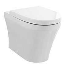 Hudson Reed Luna Round Back To Wall Pan with Top-Fixing Soft Close Seat - CPA008 Medium Image