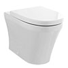 Hudson Reed Luna Round Back To Wall Pan with Top-Fixing Soft Close Seat - CPA008 profile small image view 1