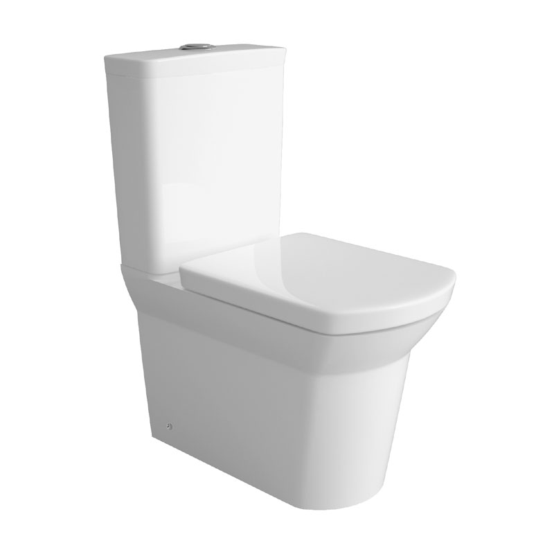 Hudson Reed Alton 4 Piece Bathroom Suite - CC Toilet & 1TH Basin with Pedestal - 3 x Basin Size Options profile large image view 2
