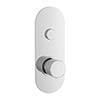 Hudson Reed Ignite Round One Outlet Push-Button Thermostatic Shower Valve Chrome - CPB1310 profile small image view 1